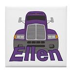 Trucker Ellen Tile Coaster
