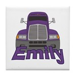 Trucker Emily Tile Coaster