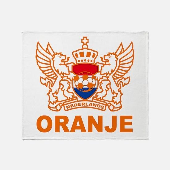 Netherlands World Cup Soccer Throw Blanket