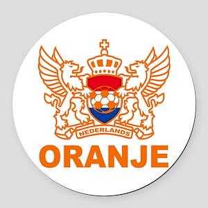 Netherlands World Cup Soccer Round Car Magnet