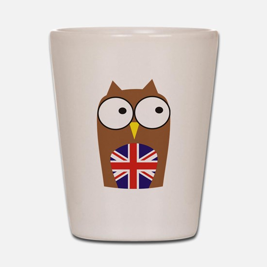 London Union Jack Owl Shot Glass