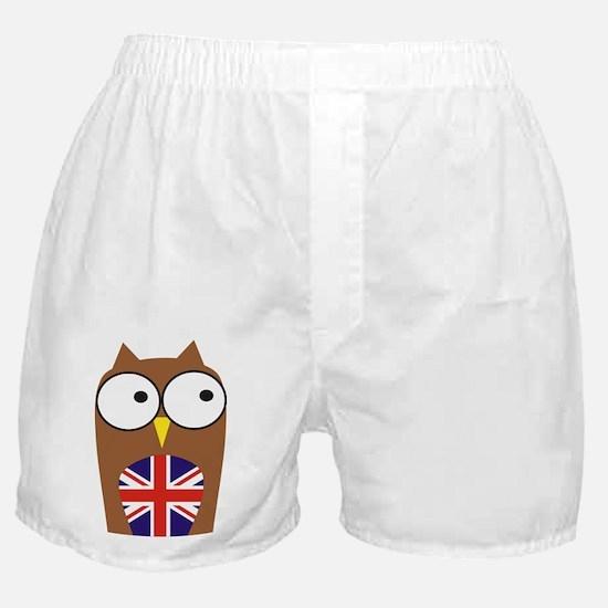 London Union Jack Owl Boxer Shorts