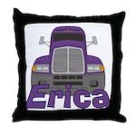 Trucker Erica Throw Pillow