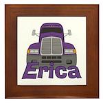 Trucker Erica Framed Tile