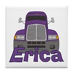 Trucker Erica Tile Coaster