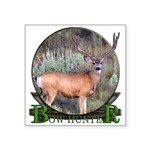 bow hunter, trophy buck. Square Sticker 3