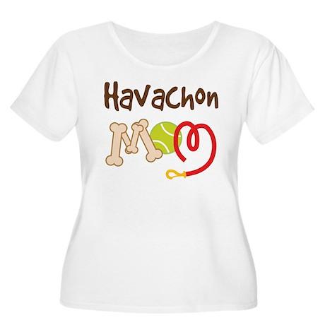 Havachon Dog Mom Women's Plus Size Scoop Neck T-Sh