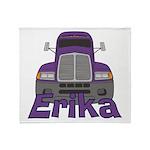 Trucker Erika Throw Blanket
