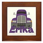 Trucker Erika Framed Tile