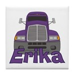 Trucker Erika Tile Coaster