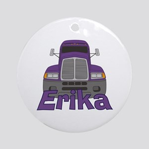 Trucker Erika Ornament (Round)