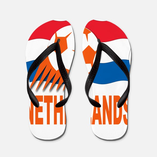 Netherlands World Cup Soccer Flip Flops