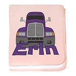 Trucker Erin baby blanket
