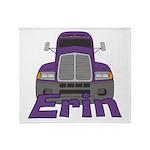 Trucker Erin Throw Blanket