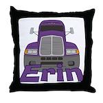 Trucker Erin Throw Pillow
