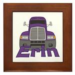 Trucker Erin Framed Tile
