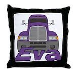 Trucker Eva Throw Pillow