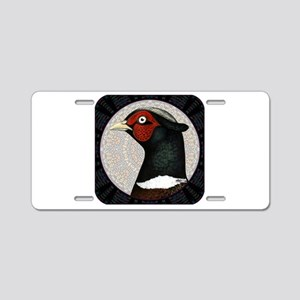 Ringneck Pheasant Circle Aluminum License Plate