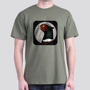 Ringneck Pheasant Circle Dark T-Shirt