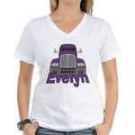 Trucker Evelyn Women's V-Neck T-Shirt