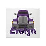Trucker Evelyn Throw Blanket