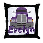 Trucker Evelyn Throw Pillow