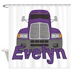 Trucker Evelyn Shower Curtain