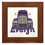 Trucker Evelyn Framed Tile