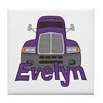 Trucker Evelyn Tile Coaster
