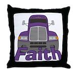 Trucker Faith Throw Pillow