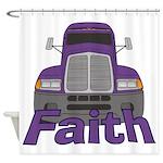 Trucker Faith Shower Curtain