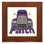 Trucker Faith Framed Tile