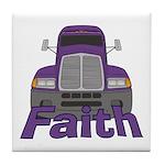 Trucker Faith Tile Coaster