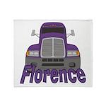 Trucker Florence Throw Blanket