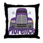 Trucker Florence Throw Pillow