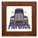 Trucker Florence Framed Tile
