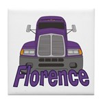 Trucker Florence Tile Coaster