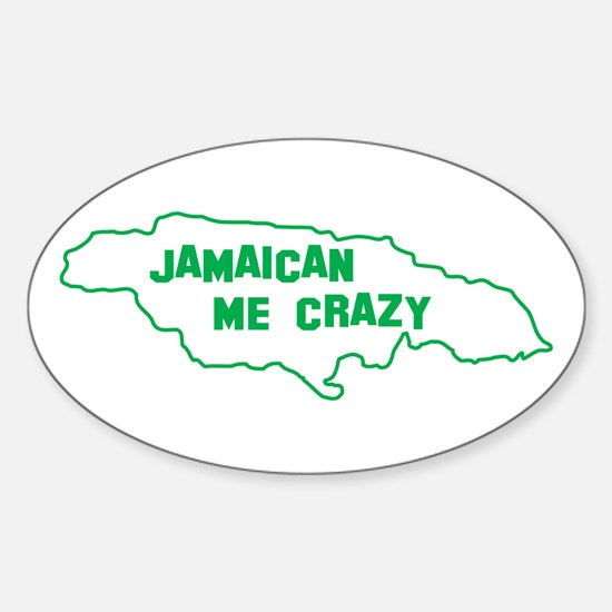 Jamaican Me Crazy Oval Decal