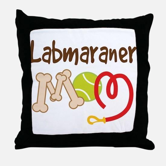Labmaraner Dog Mom Throw Pillow