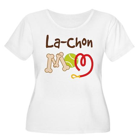 La-Chon Dog Mom Women's Plus Size Scoop Neck T-Shi