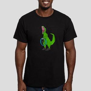 trex can't fix a flat Men's Fitted T-Shirt (dark)
