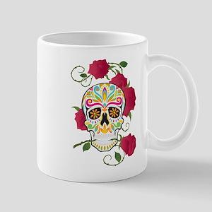 Rose Sugar Skull Mug