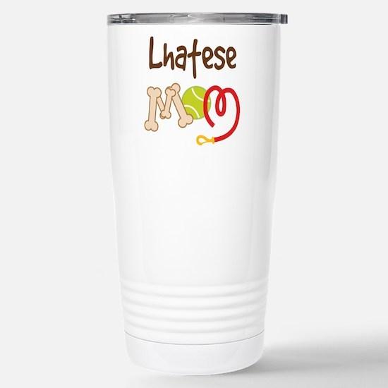 Lhatese Dog Mom Stainless Steel Travel Mug