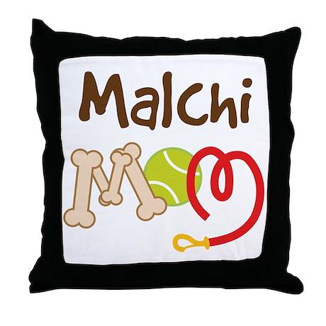 Malchi Dog Mom Throw Pillow