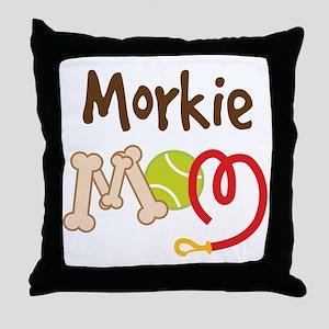 Morkie Dog Mom Throw Pillow