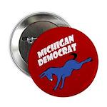 Michigan Democrat Political Button