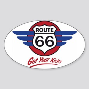 Route 66 Sticker (Oval)