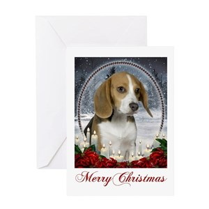 beagle christmas greeting cards cafepress - Christmas Beagle