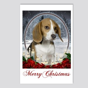 Xmas Beagle Postcards (Package of 8)