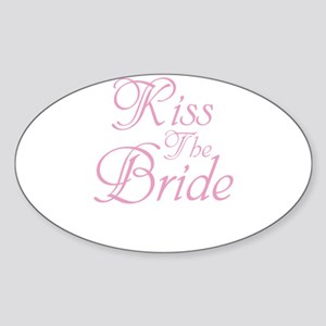Kiss The Bride Sticker (Oval)